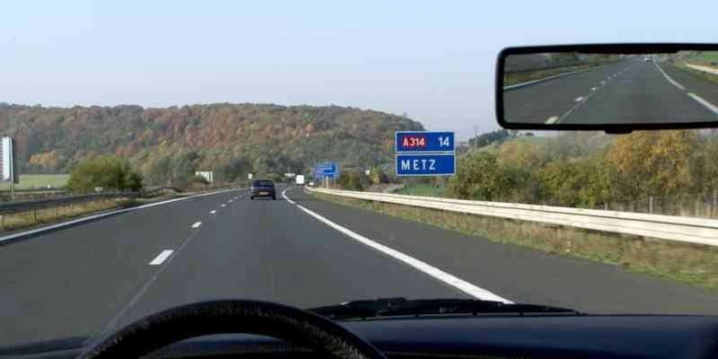 Image of the motorway en-route to Metz, France.
